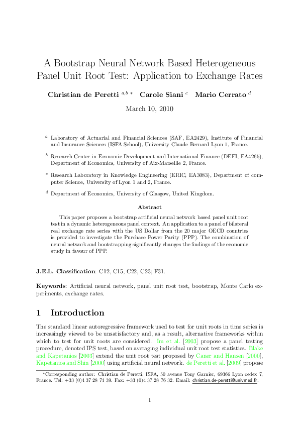 PDF) A Bootstrap Neural Network Based Heterogeneous Panel Unit Root