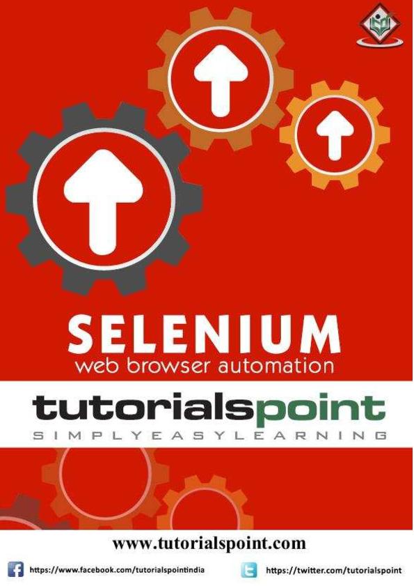 PDF) Selenium notes for begginers   SATISH VEMULAPALLI