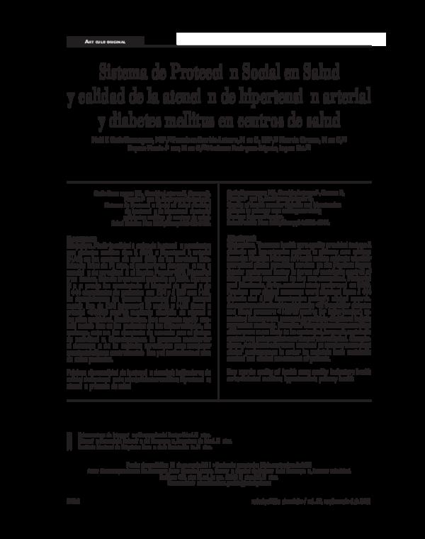 (PDF) Sistema de Protección Social en Salud y calidad de..