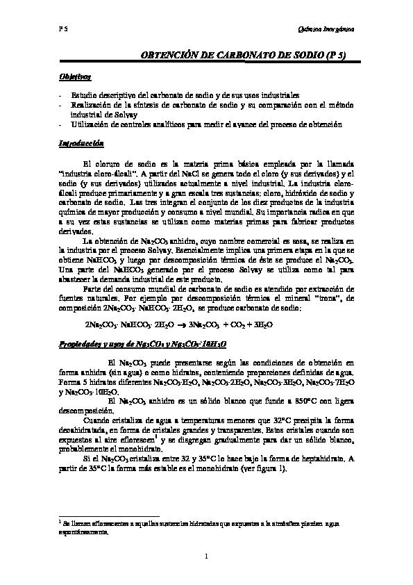 Pdf Obtención De Carbonato De Sodio P 5 Lizeth Maciel