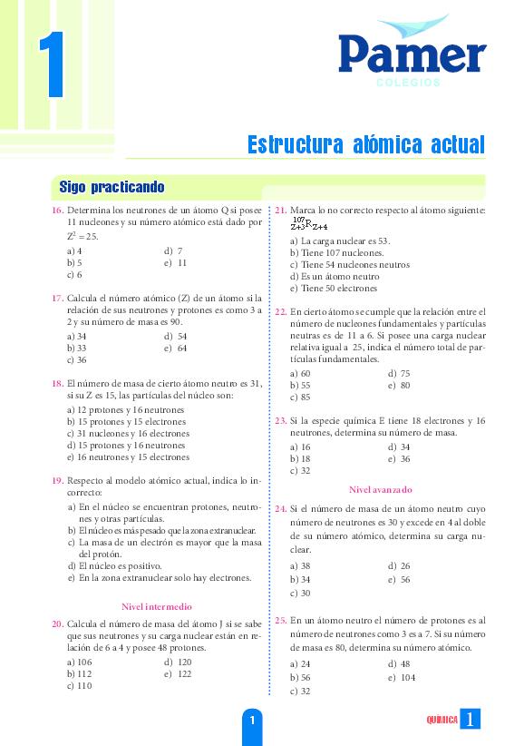 Pdf Estructura Atómica Actual Giovani Luna Academia Edu
