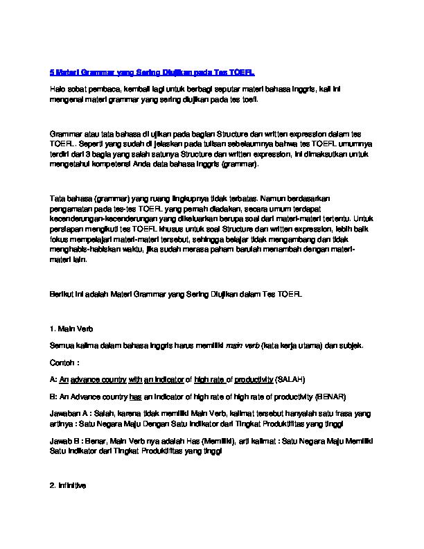 Contoh Soal Toep Dan Pembahasannya Pdf - Contoh Soal Terbaru