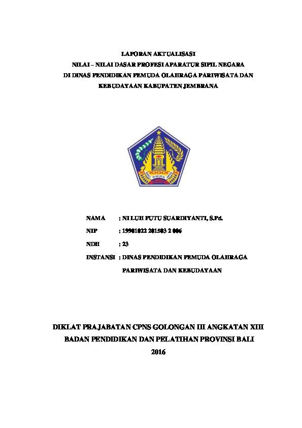 Cpns2019 Contoh Judul Rancangan Aktualisasi Cpns Guru Smp