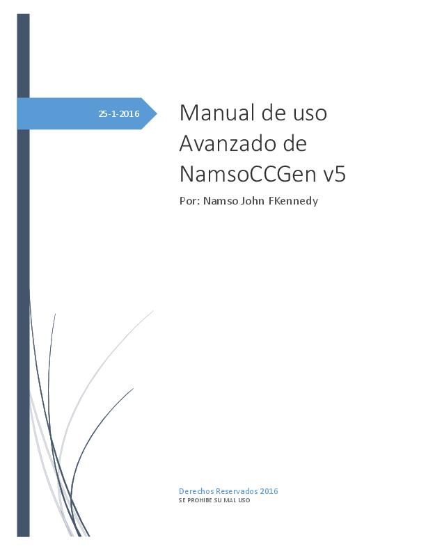 PDF) Manual de uso Avanzado de NamsoCCGen v5 | Nicole Segawa