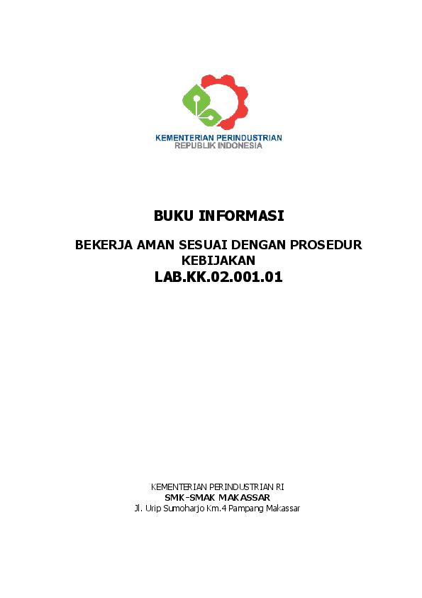 Pdf Bekerja Aman Sesuai Dengan Prosedur Batti Husain Academia Edu