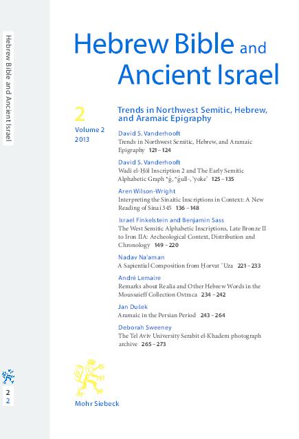 "PDF) ""Wadi el-Ḥôl Inscription 2 and The Early Alphabetic Graph *ǵ"