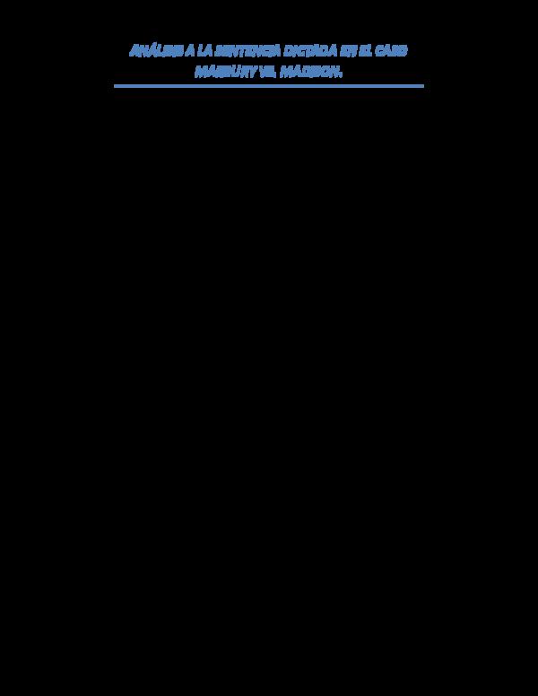 Caso Marbury Vs Madison Ebook
