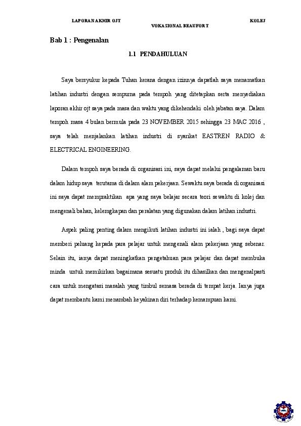 Doc Laporan Ojt Muhd Nur Azfar Academia Edu
