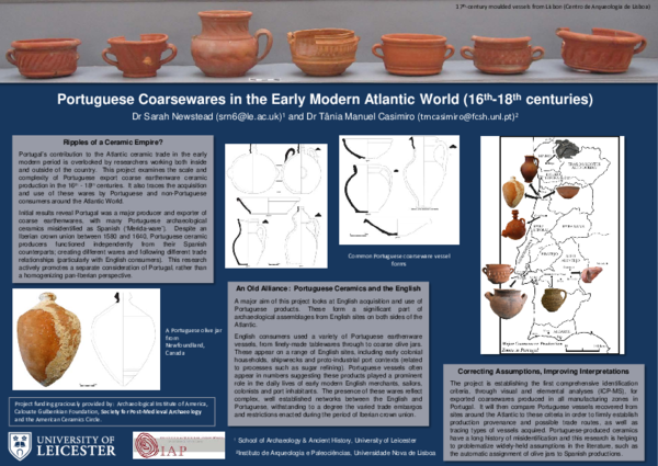 PDF) Portuguese Coarsewares in the Early Modern Atlantic