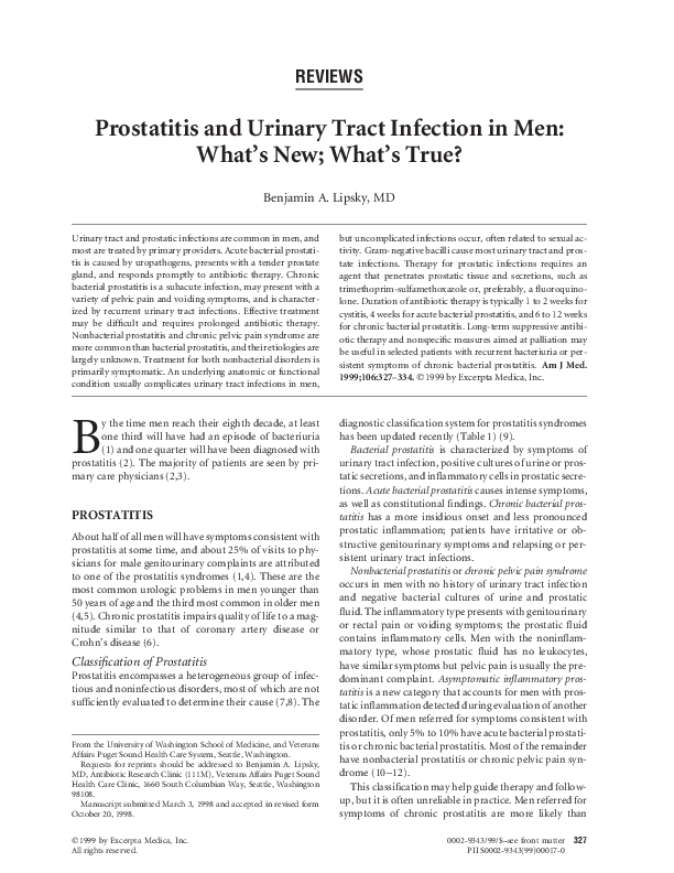 Prostatitis spasme- ben