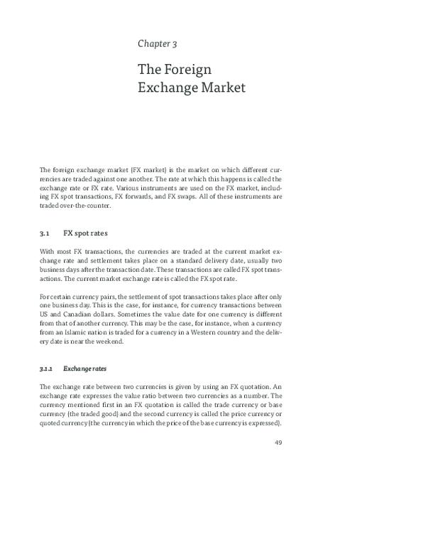 Pdf The Foreign Exchange Market