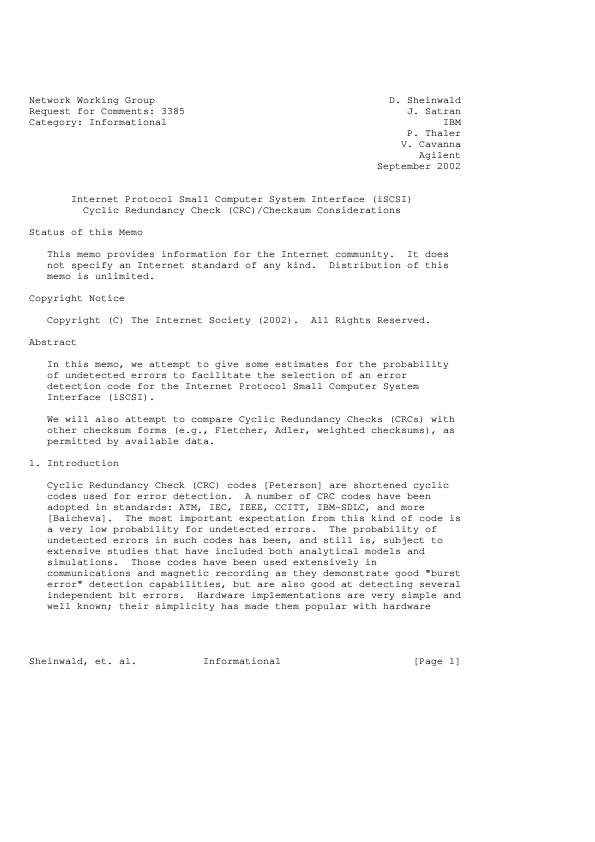 PDF) Internet Protocol Small Computer System Interface (iSCSI