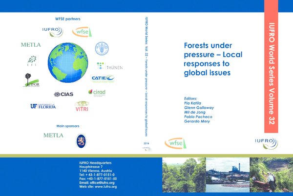 b109d3e448 PDF) Forest under pressures - Local responses to global issues | Wil ...