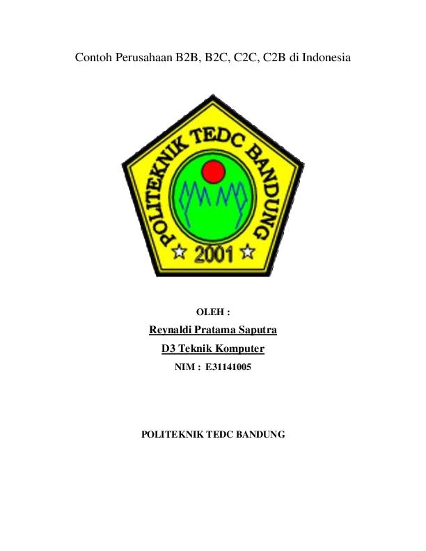 Contoh Perusahaan B2b B2c C2c C2b Di Indonesia Reynaldi Pratama