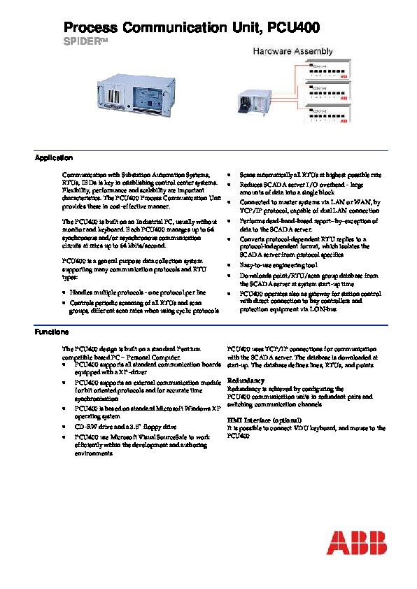 PDF) Process Communication Unit, PCU400 | Turki Ahmed