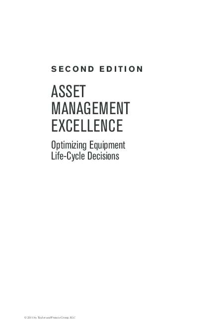 PDF) ASSET MANAGEMENT EXCELLENCE Optimizing Equipment Life