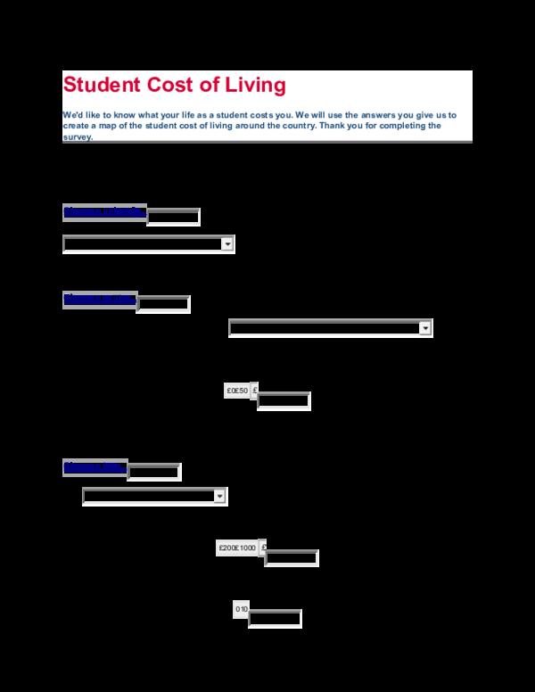 DOC) Student Cost of Living | nurul hidayah - Academia edu