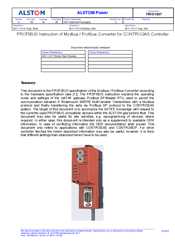 PDF) TN10 1837 A PROFIBUS Instruction of Modbus Profibus Converter