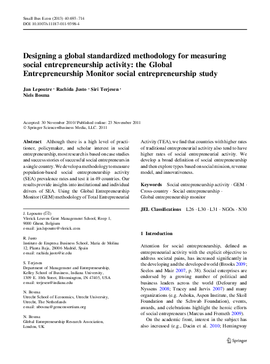 Pdf Designing A Global Standardized Methodology For