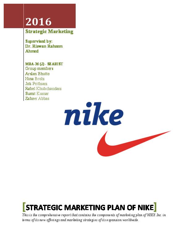 5b7d48f4da31fb Strategic Marketing Plan of Nike