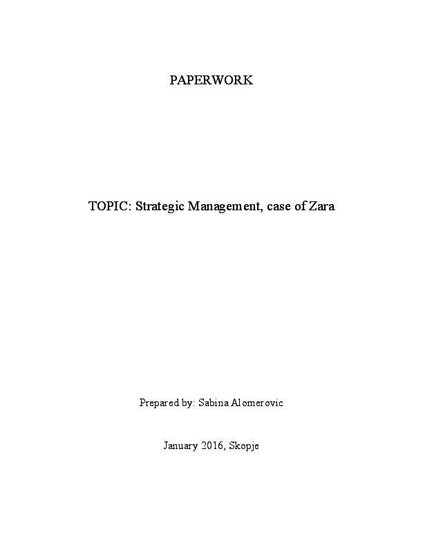 zara operations management case study