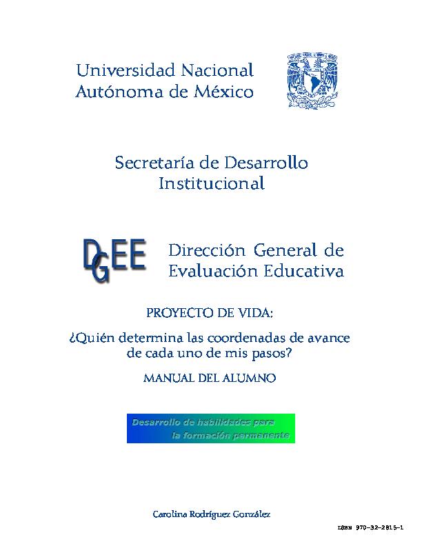 (PDF) Universidad Nacional Autónoma de México Dirección