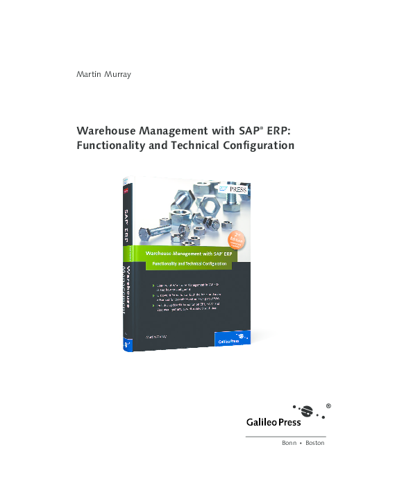 PDF) Warehouse Management with SAP ® ERP: Functionality and