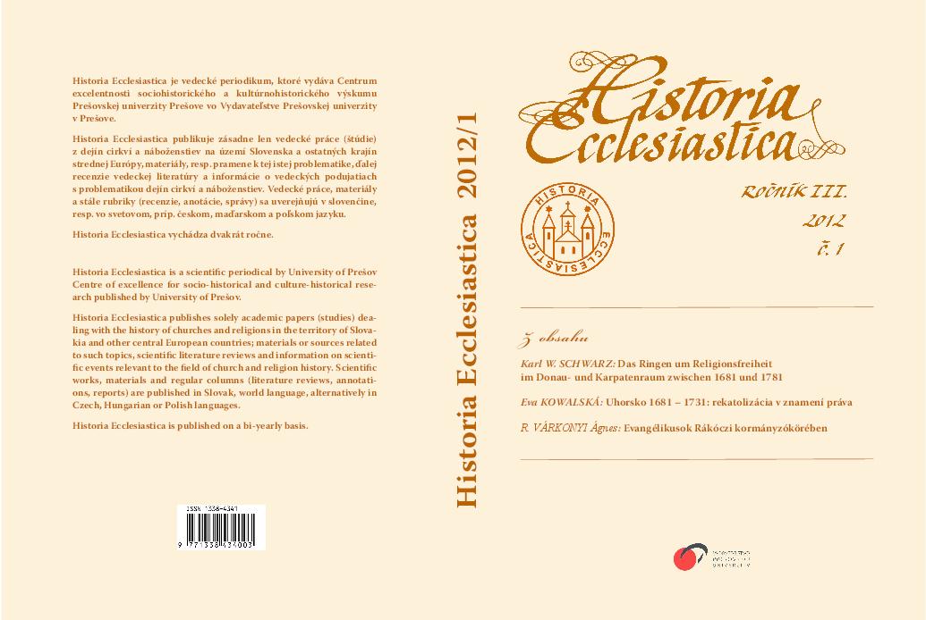 PDF) UHORSKO 1681 – 1731  REKATOLIZÁCIA V ZNAMENÍ PRÁVA  3f7efa057a