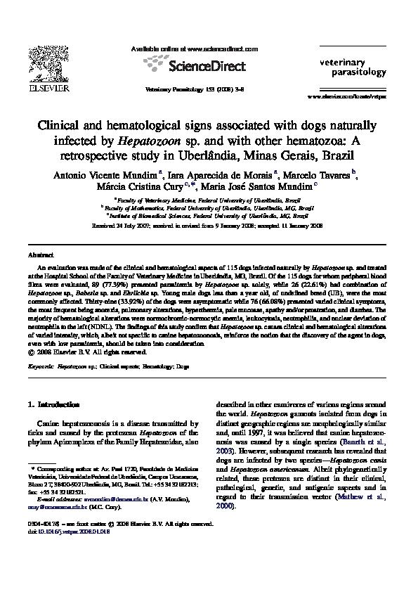 hemoparasitos hepatozoon