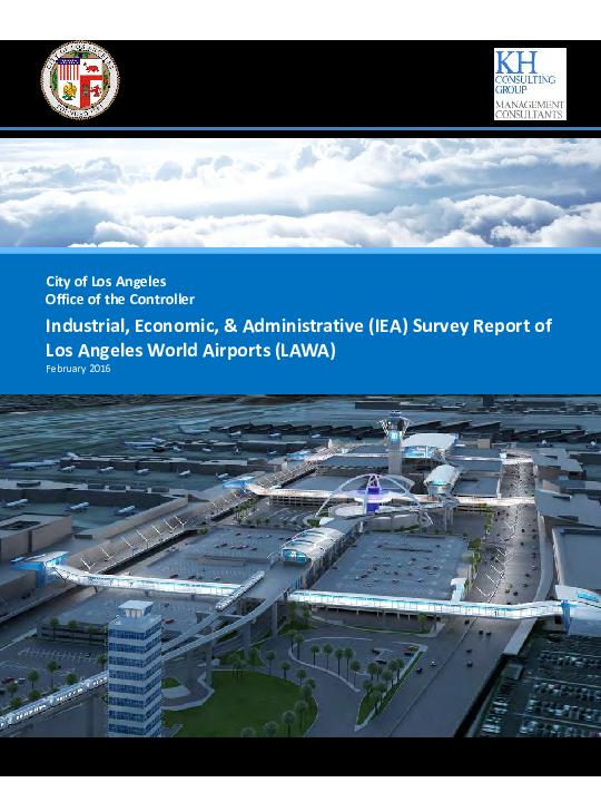 2020-2016 Lausd Calendar PDF) Los Angeles World Airports (LAWA/LAX): Industrial, Economic