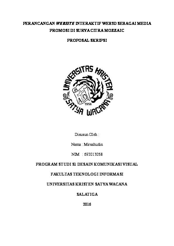Doc Perancangan Website Interaktif Web3d Sebagai Media Promosi Di Surya Citra Mozzaic Proposal Skripsi Latar Belakang Mirsahudin Ii Academia Edu