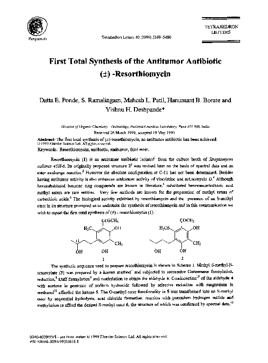 PDF) ChemInform Abstract: First Total Synthesis of the Alkaloid