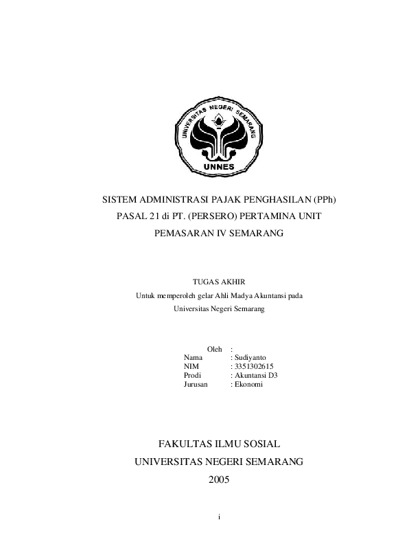 Pdf Contoh Skripsi Akuntansi Pajak Rian Bayu Ristian Academia Edu