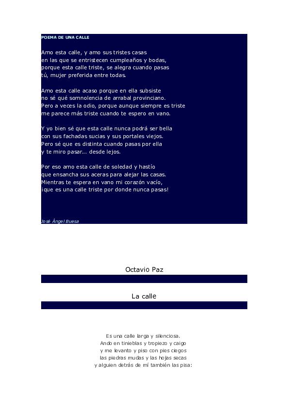 Doc Poema De Una Calle Jenn Rueda Academiaedu