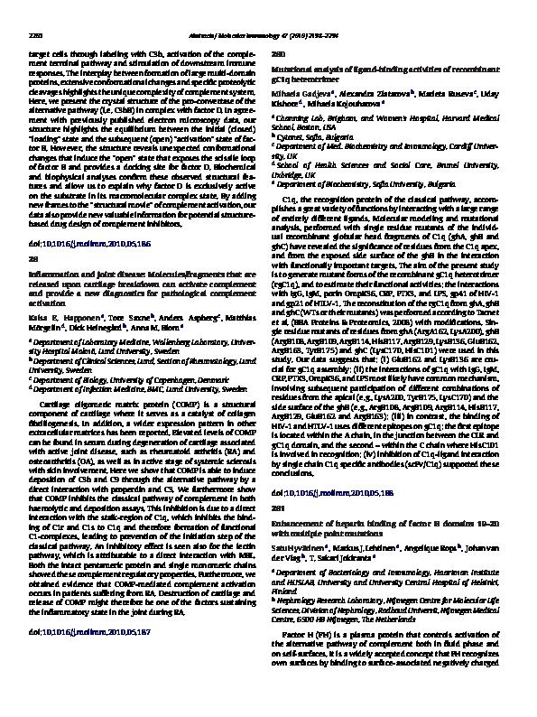 PDF) Enhancement of heparin binding of factor H domains 19