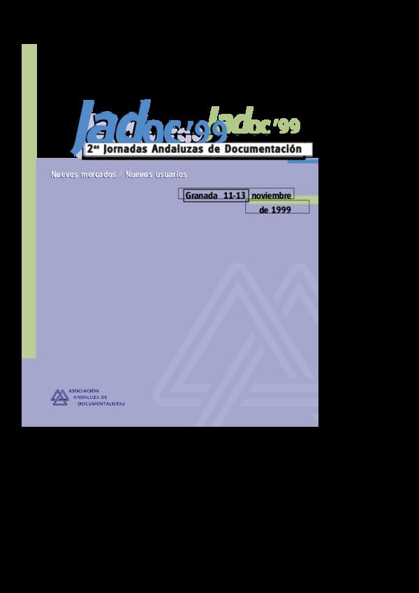 0fb553a0f PDF) Nuevos mercados, nuevos usuarios / 2as Jornadas Andaluzas de ...