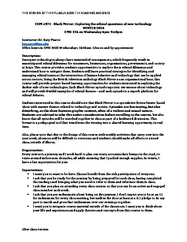 PDF) COM 597E: Black Mirror: Exploring the ethical questions