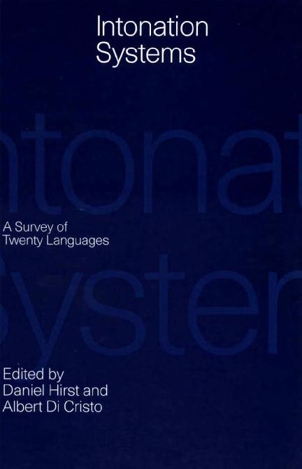 PDF) Daniel Hirst, Albert Di Cristo Editors Intonation Systems A