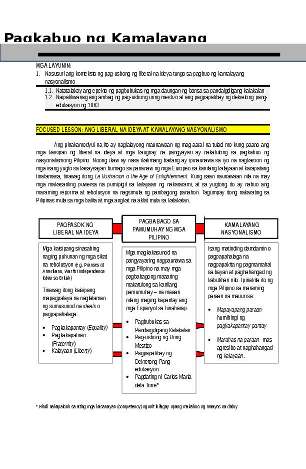 DOC) Reading Material for Grade 6 First Quarter Lesson 4