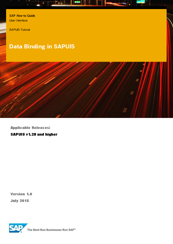 PDF) SAP How-to Guide User Interface SAPUI5 Tutorial Applicable