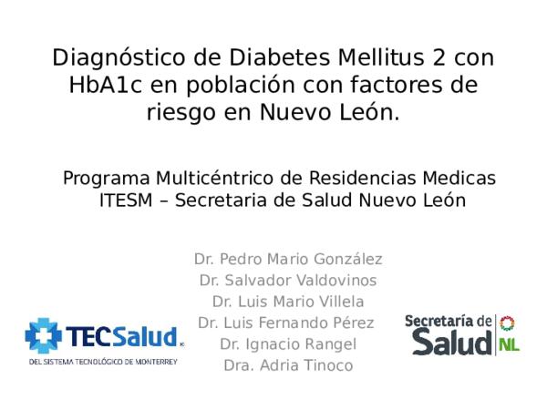 hemoglobina glucosilada diagnostico diabetes