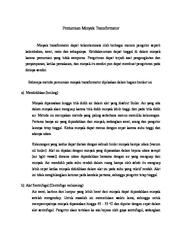 Pemurnian Minyak Transformator  3b982e5e59