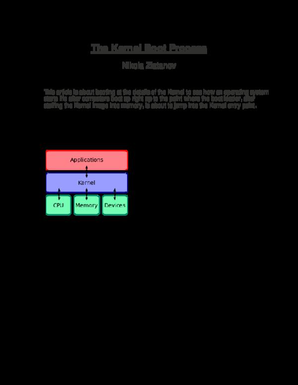 PDF) The Kernel Boot Process | Nikola Zlatanov - Academia edu