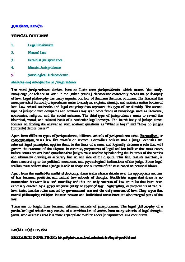 PDF) Jurisprudence Notes LLB pdf | Sunanda Tewari - Academia edu