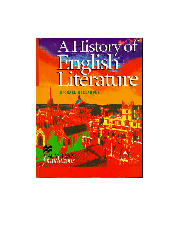 59ae90884a30 PDF) A History of English Literature