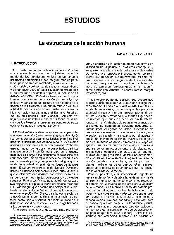 Pdf La Estructura De La Acción Humana Daniel Gonzalez