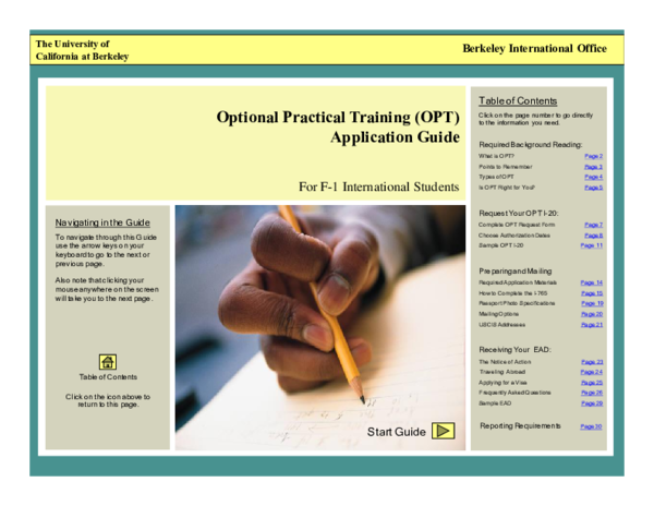 PDF) Preparing and Mailing Optional Practical Training (OPT