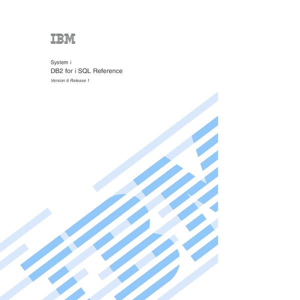 PDF) System i DB2 for i SQL Reference | Hanh Beyes