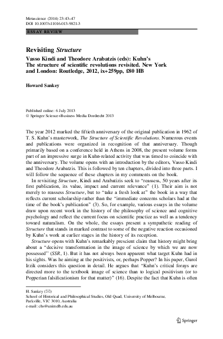 Kuhn Structure Of Scientific Revolutions Pdf