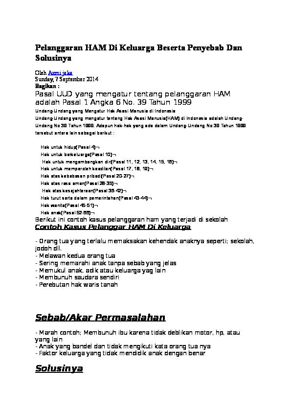 Pelanggaran Ham Doc Pdf Download Contoh Makalah Lengkap
